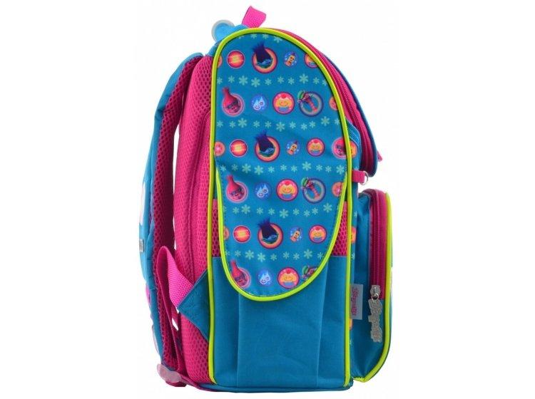 Рюкзак каркасный 1 Вересня. H-11 Trolls turquoise