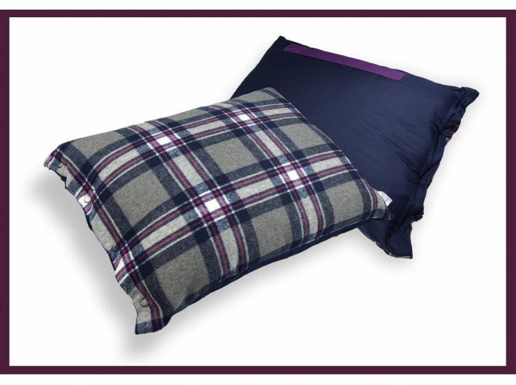Плед-одеяло-пончо-подушка Home Line синий