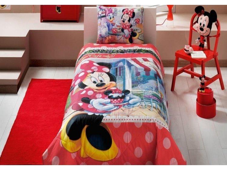 Детское стеганное покрывало TAC. Disney Minnie Tea Time