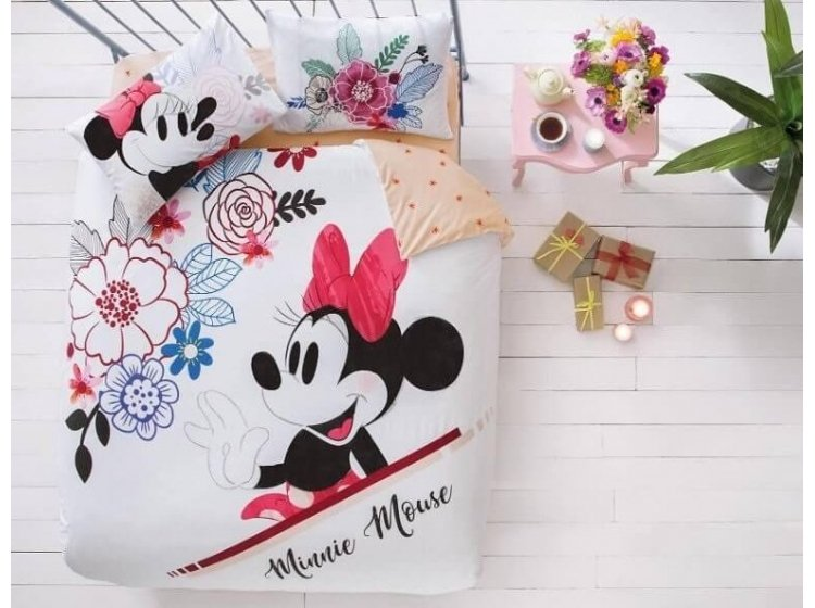 Постельное белье TAC. Disney M&M Watercolor (простынь на резинке)