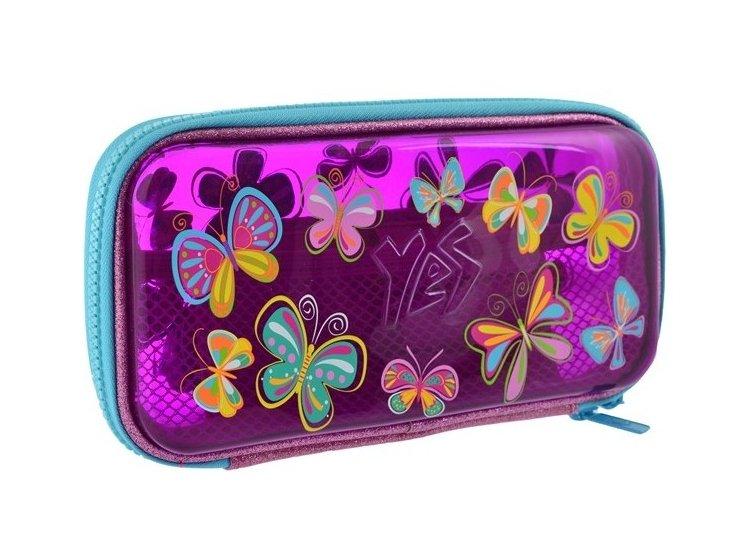 Пенал твердый пластиковый 3D YES. HP-07 Butterflies