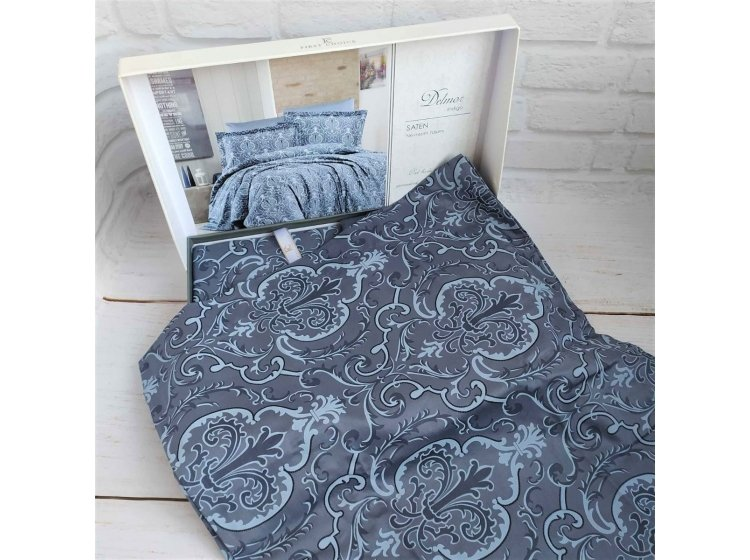 Постельное белье First Choice. Satin Delmor Indigo