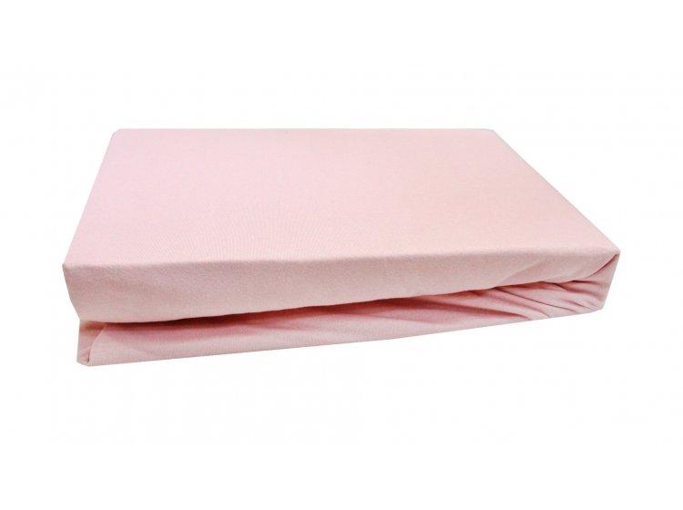 Простынь на резинке трикотажная LIGHTHOUSE. Розовая
