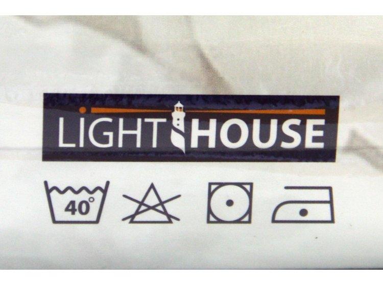 Простынь на резинке трикотажная LIGHTHOUSE. Голубая