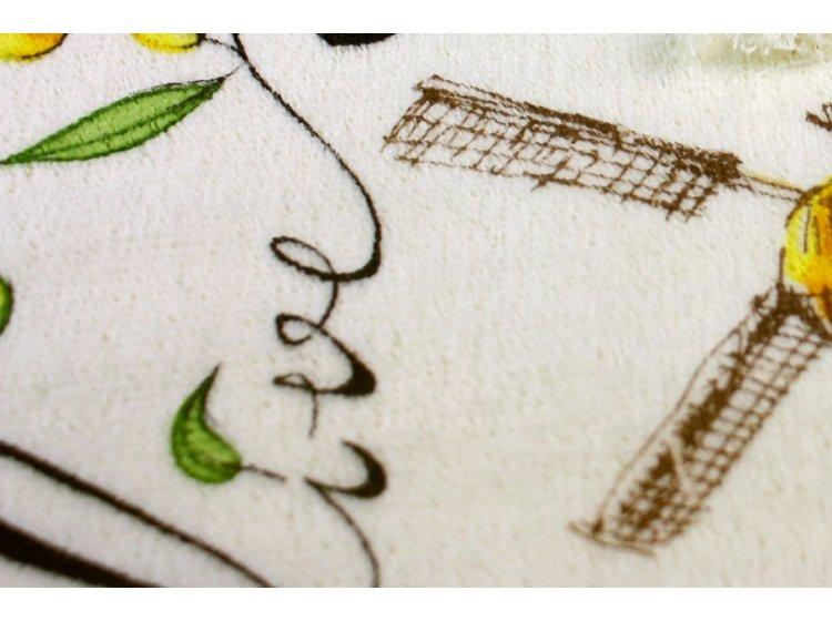 Полотенце махровое кухонное IzziHome. Оливки