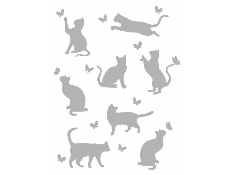 Хлопковый плед LightHouse. Meow светло-серый