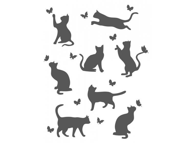 Хлопковый плед LightHouse. Meow темно-серый