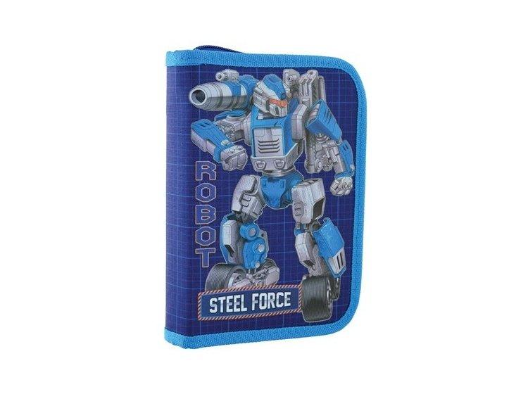 Пенал твердый одинарный без клапана 1 Вересня. HP-02 Steel Force, 14смх3,2см