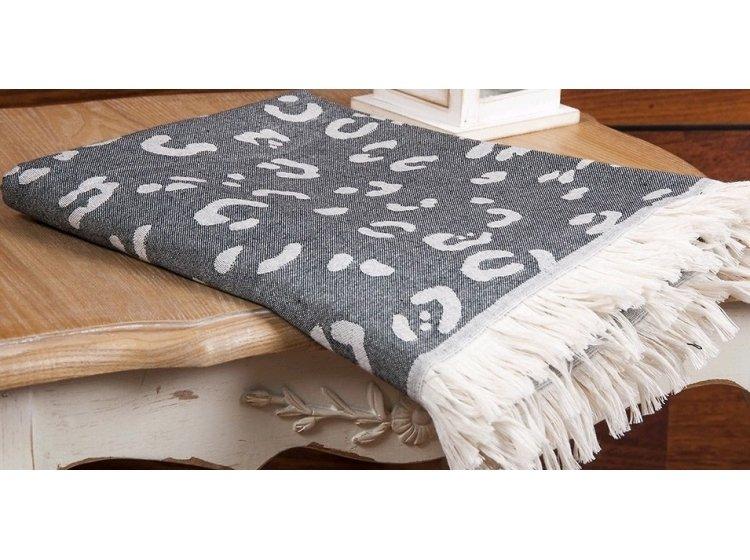 Пляжное полотенце Buldans. Leopar черное
