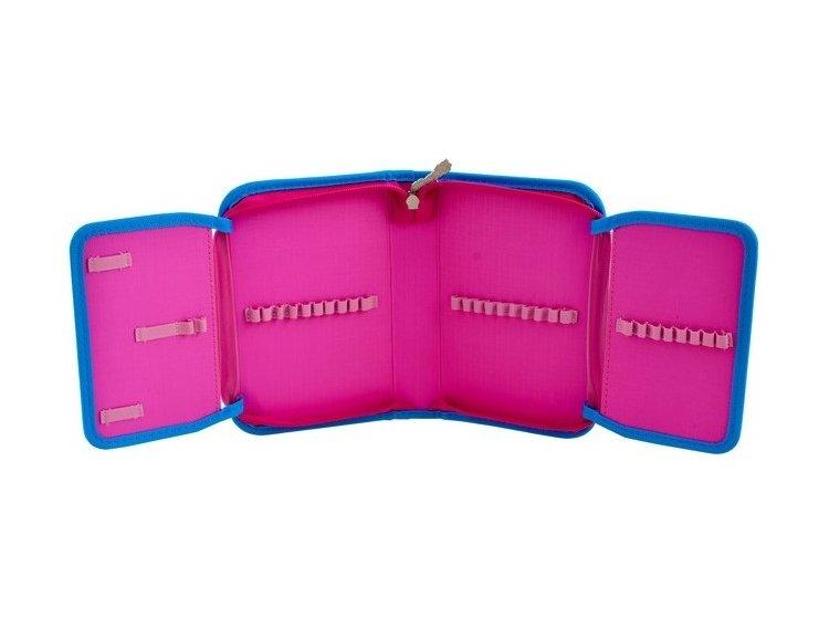 Пенал твердый одинарный с двумя клапанами 1 Вересня. HP-04 Barbie, 13,5смх4см