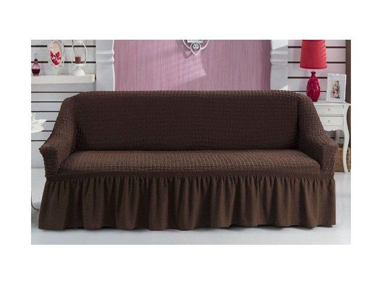 Чехол на диван Arya. Burumcuk коричневого цвета