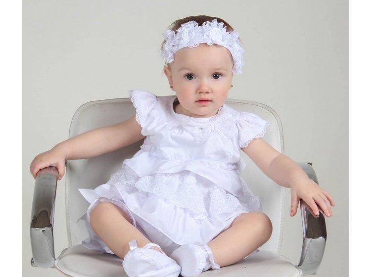 Комплект для девочки Mimino baby. Зарина белый