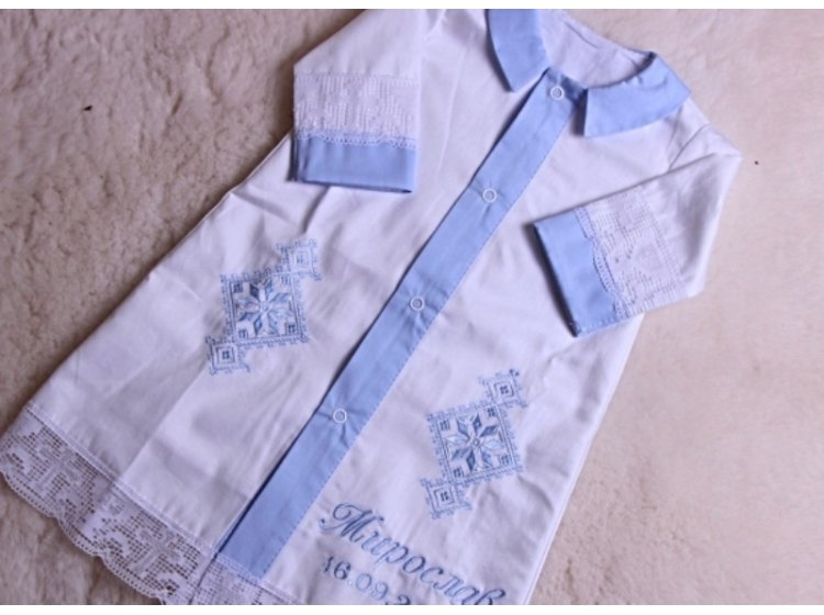 Рубашка крестильная  Mimino baby. Славянская