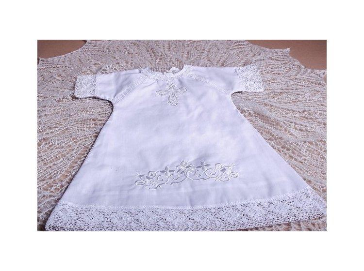 Рубашка вышиванка  Mimino baby. Ажурная белая