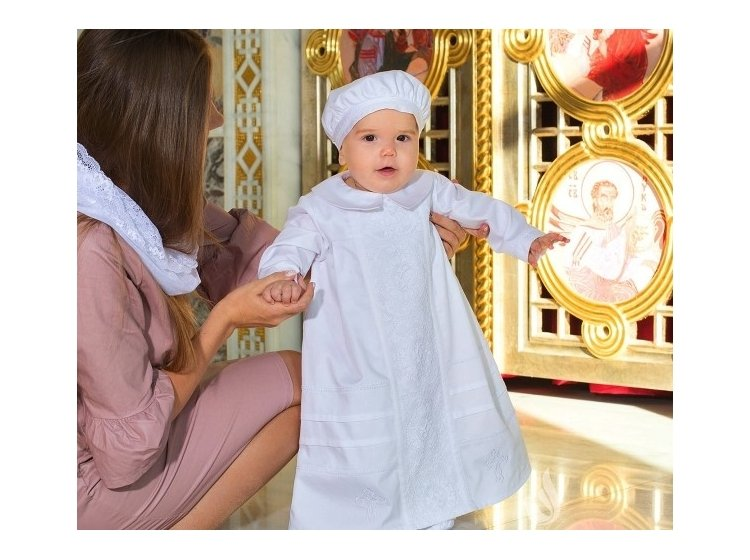 Рубашка крестильная  Mimino baby. Авгус