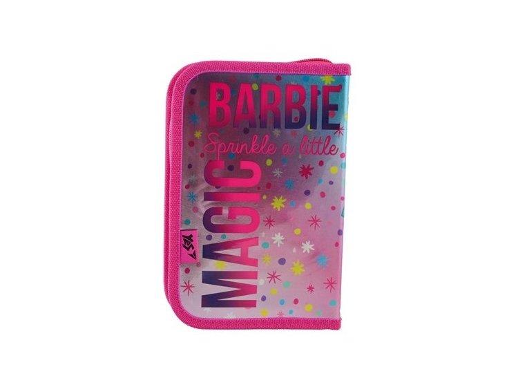 Пенал твердый одинарный с двумя клапанами YES. HP-04 Barbie, 13,5смх4см