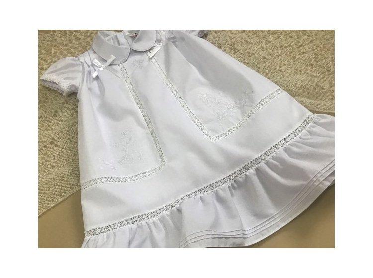 Платье крестильное Mimino baby. Машенька белое
