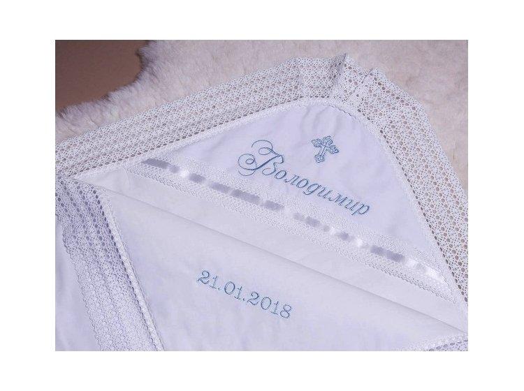 Крыжма Mimino baby. Ажурная пример вышивки