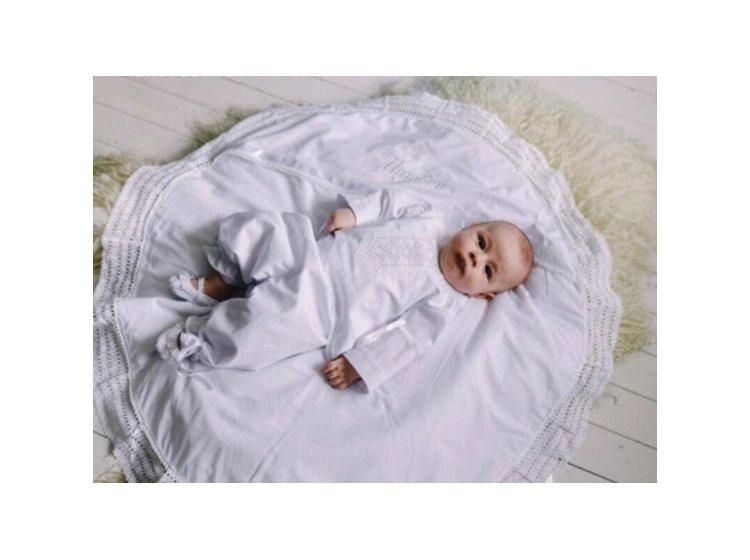 Крыжма Mimino baby. Крестильная круглая