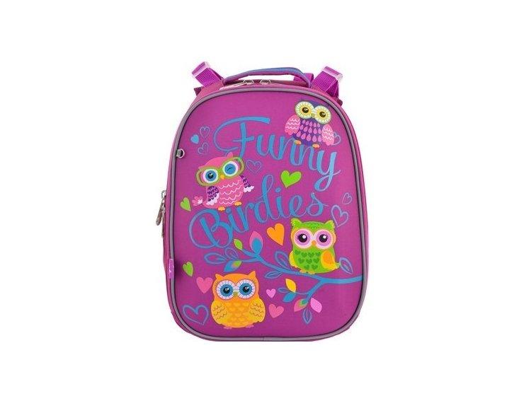 Рюкзак школьный каркасный YES. H-25 Funny Birdies