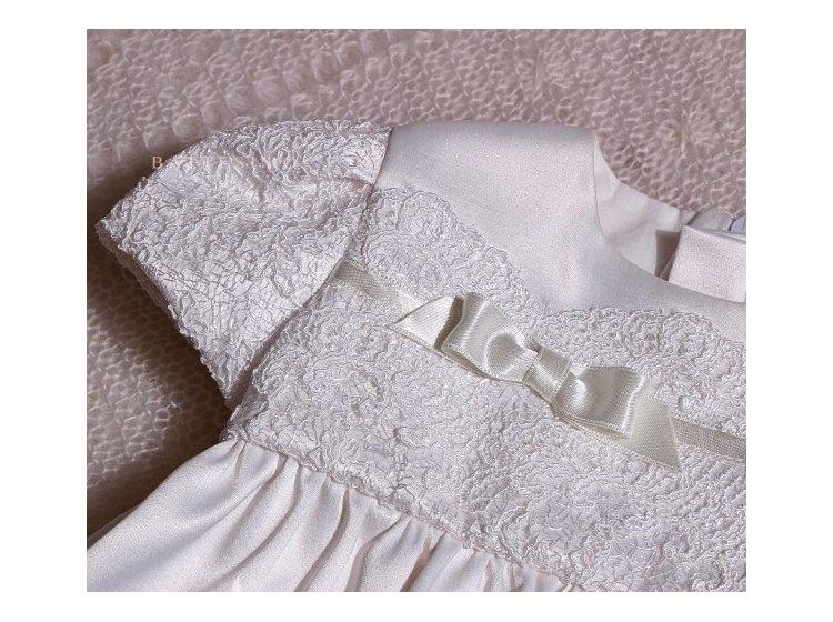 Рубашка крестильная  Mimino baby. Анастасия молочная