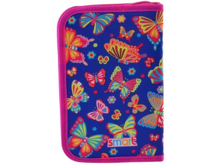 Пенал твердый одинарный с клапаном Smart. HP-03 Butterfly dance, 13смх3,6 см