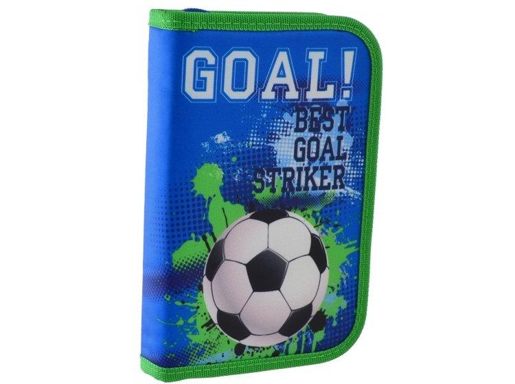 Пенал твердый одинарный без клапана Smart. HP-02 Goal, 13смх3,2см