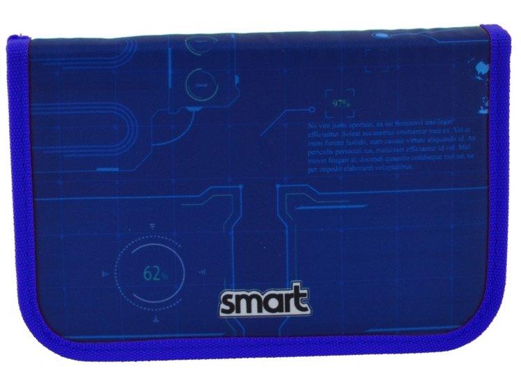 Пенал твердый одинарный с двумя клапанами Smart. HP-04 Space, 13смх3,6см