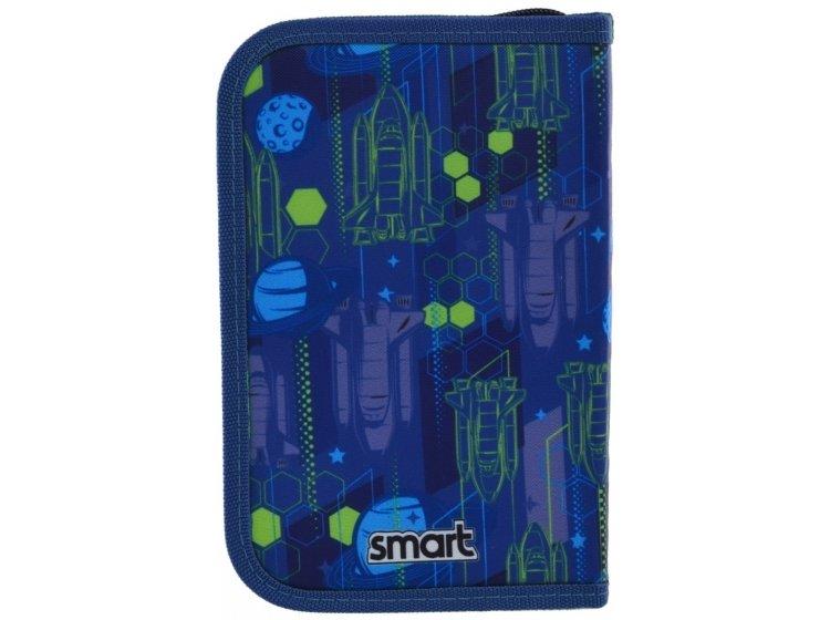 Пенал твердый одинарный с клапаном Smart. HP-03 Galaxy, 13смх3,6 см