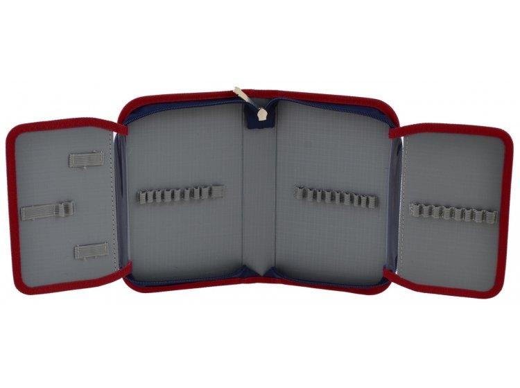 Пенал твердый одинарный с двумя клапанами Smart. HP-04 School Club, 13смх3,6см