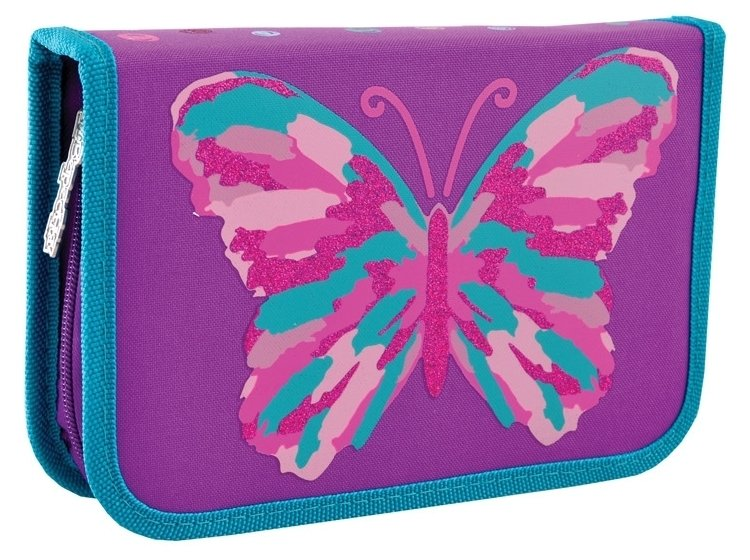 Пенал твердый двойной YES. HP-01 Butterfly, 13смх4,5см