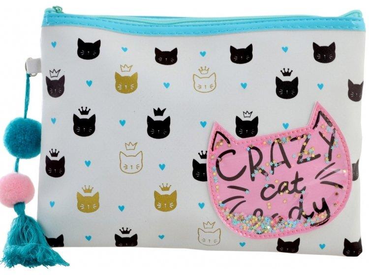 Пенал-косметичка YES. TP-13 Crazy Cat