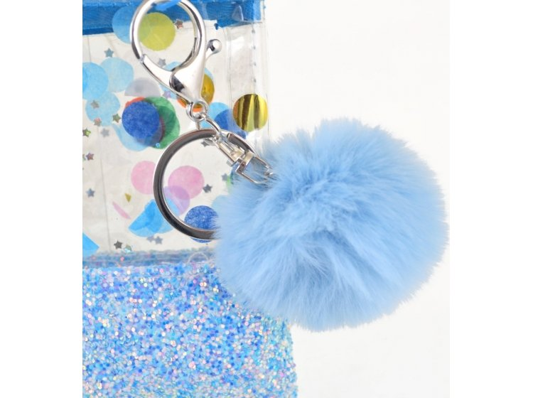 Пенал-косметичка с глиттером YES. Galaxy голубая