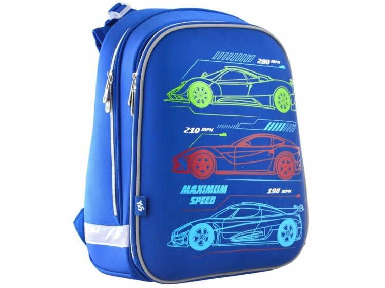 Рюкзак школьный каркасный YES. H-12 Maximum Speed
