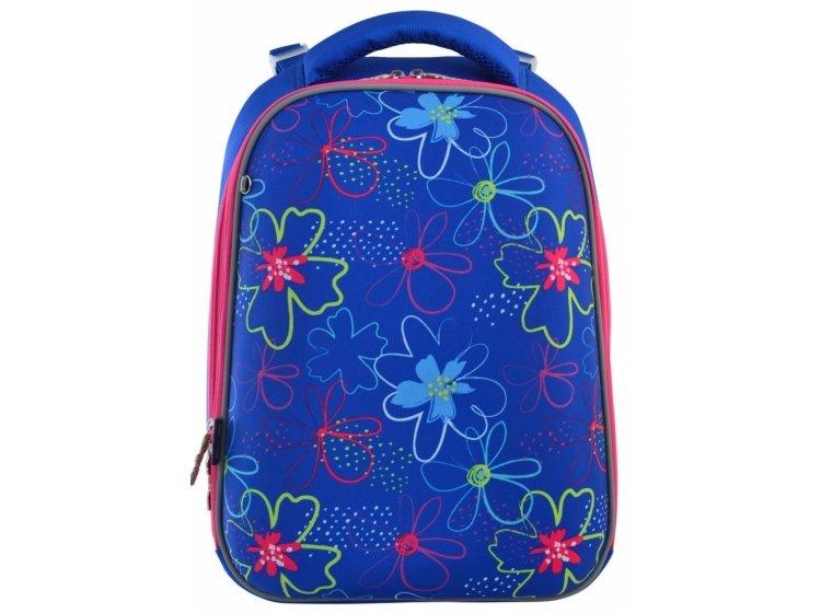 Рюкзак каркасный 1 Вересня. H-12 Vivid flowers