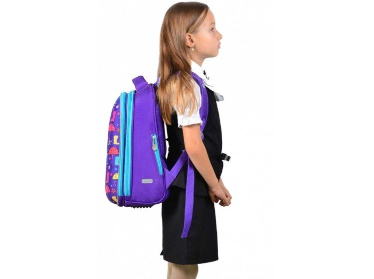 Рюкзак школьный каркасный YES. H-12 Umbrellas