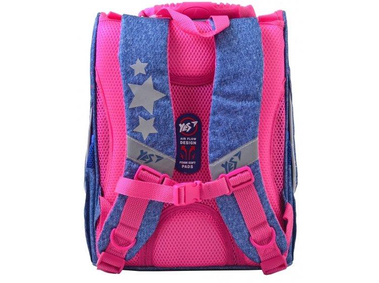 Рюкзак школьный каркасный YES. H-11 Starlight