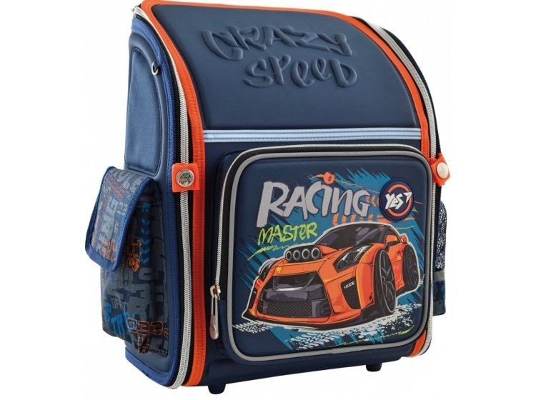 Рюкзак школьный каркасный YES. H-18 Racing