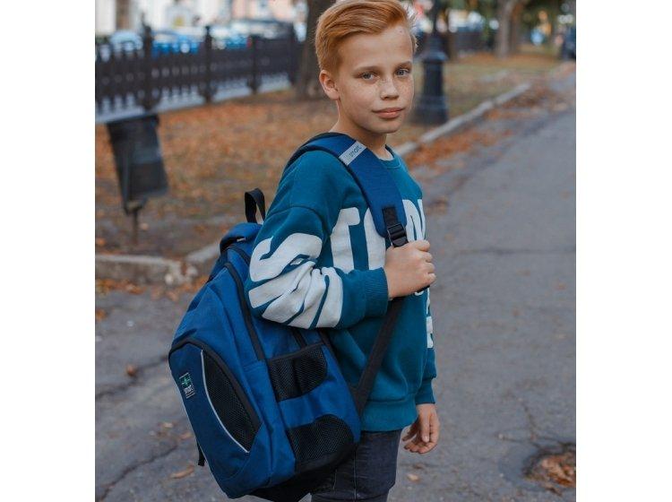 Рюкзак школьный Smart. SG-25 Navy