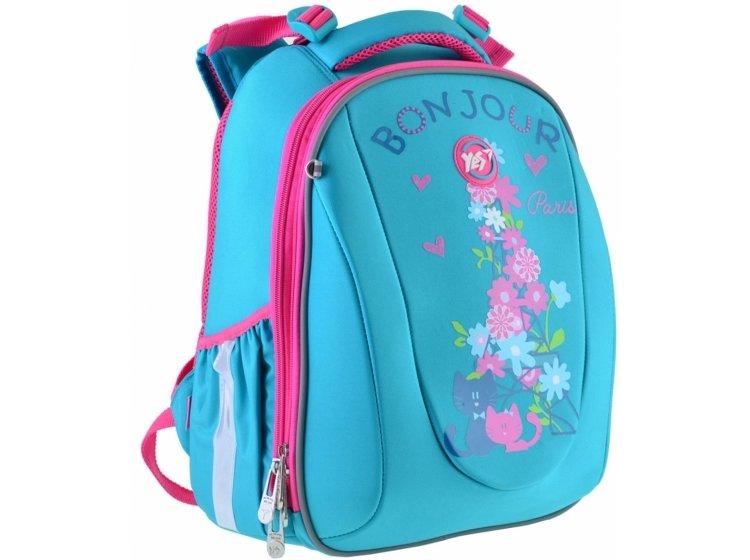 Рюкзак школьный каркасный YES. H-28 Bonjour