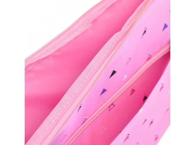 Чехол для ноутбука YES. Triango розовый