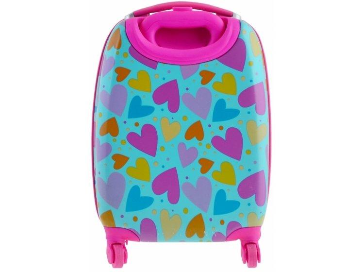 Чемодан детский на колесах YES. Lovely hearts, LG-4