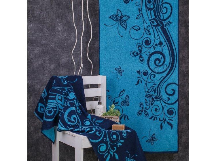 Махровое полотенце Речицкий текстиль. ЛУГОВОЙ бирюзовое