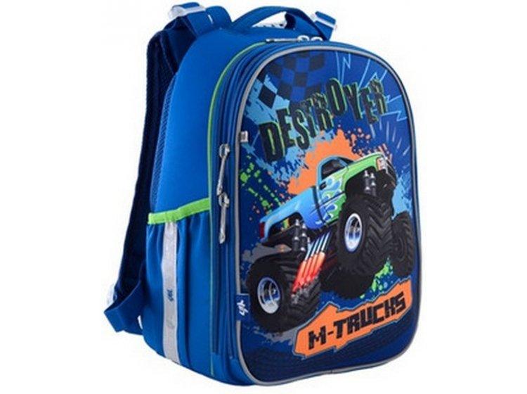 Рюкзак школьный каркасный YES. H-25 M-Trucks
