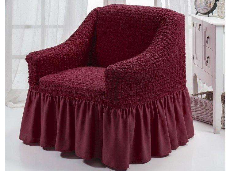 Чехол для кресла Arya. Burumcuk бордового цвета