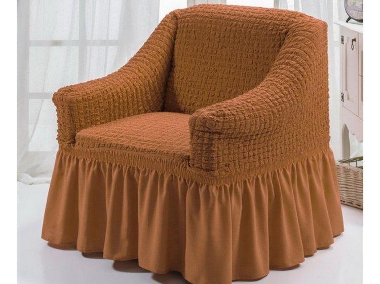 Чехол для кресла Arya. Burumcuk темно-горчичного цвета