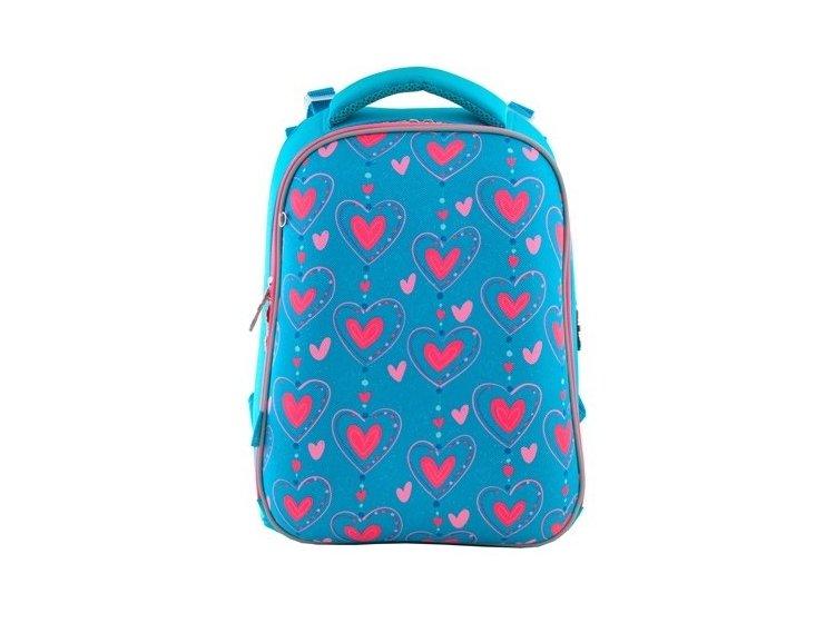 Рюкзак каркасный 1 Вересня. H-12 Romantic hearts