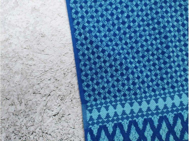 Махровое полотенце Речицкий текстиль. Венеция синее