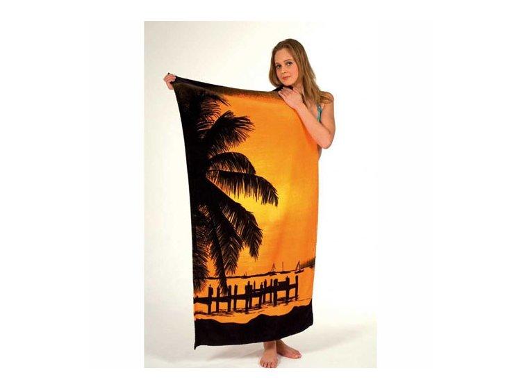 Полотенце пляжное Shamrock. Санрайс, размер  75х150