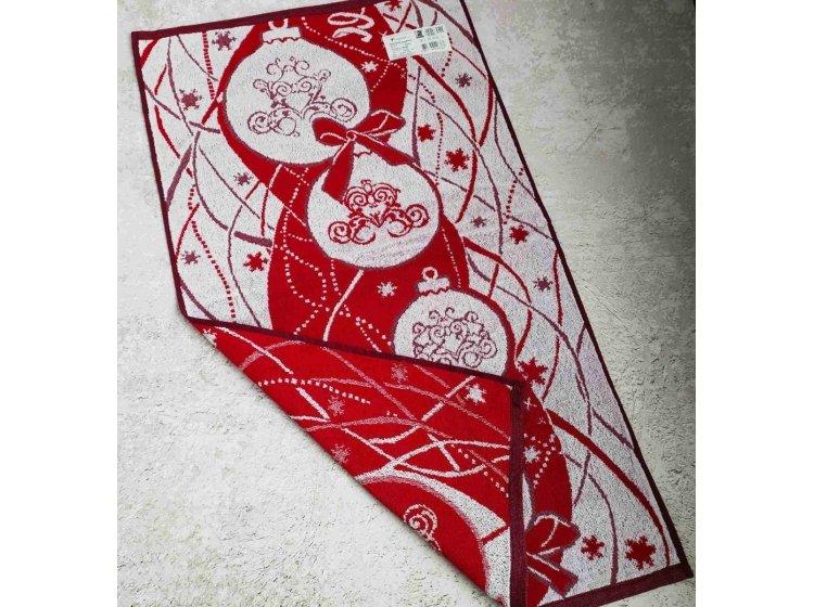 Махровое полотенце Речицкий текстиль. Шары красное